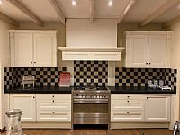 Parallel keuken eiken wit gelakt
