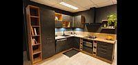 zwart betonlook met warme houtlook