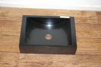 Zwarte spoelbak 50x35