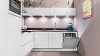 Ultra hoogglans witte hoek keuken 30 (Z).