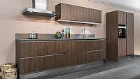 Rechte houtdecor keuken 35 (Z)