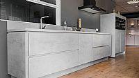 Rechte keuken betongrijs (Riva) met Pelgrim