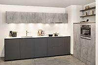 Rechte keuken met kastenwand R09