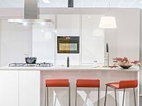Prachtige moderne, hoogglans witte keuken