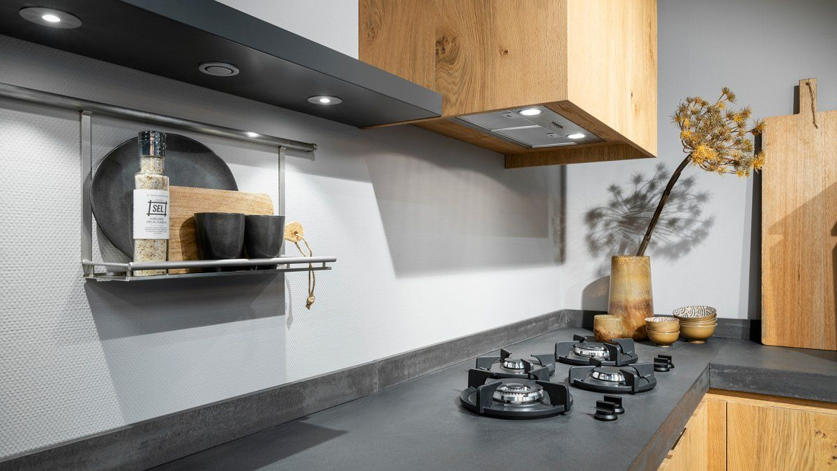 Rustiek eiken hoek keuken
