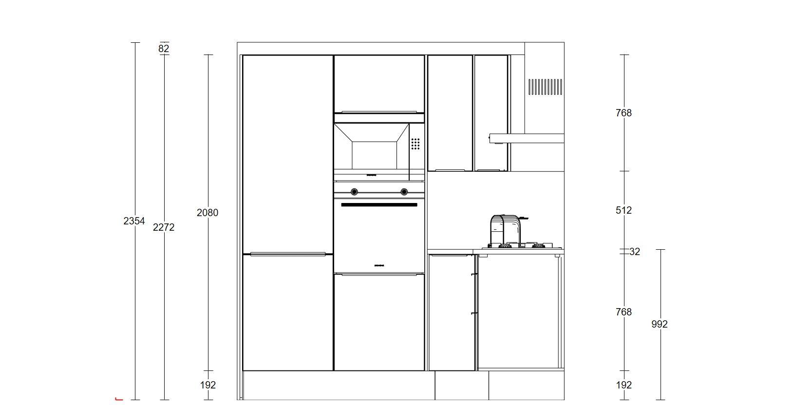 Keukenkasten en afzuiging