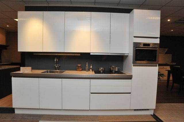... keukens voor zeer lage keuken prijzen Hoogglans wit greeploos [42254