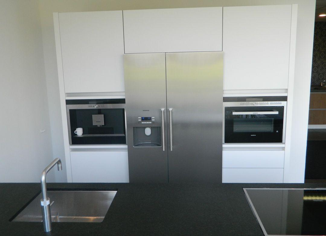 Keuken met amerikaanse koelkast ~ referenties op huis ontwerp