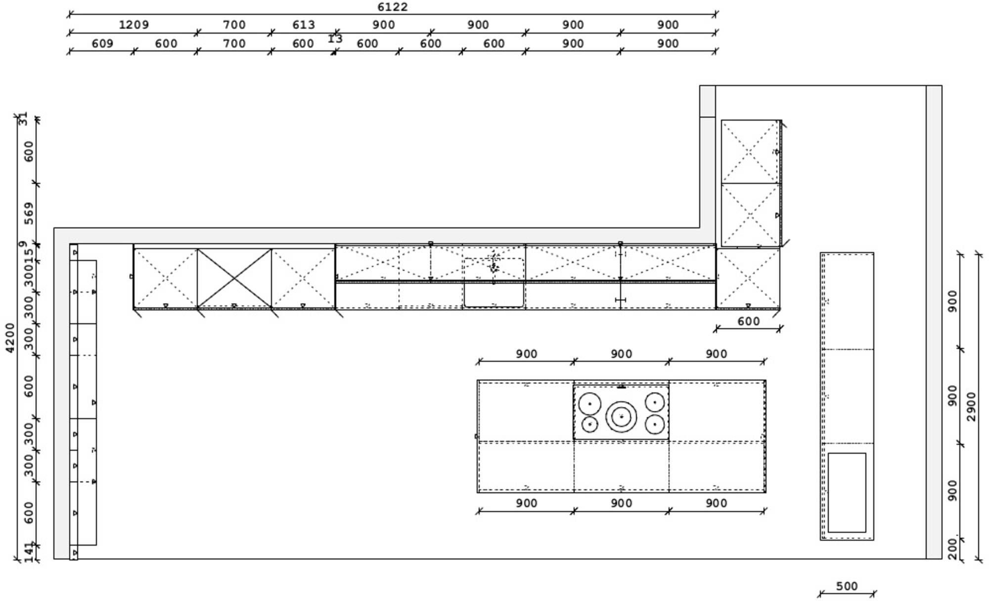SieMatic eilandkeuken S2LM / 88LM / 44N / C10 (501