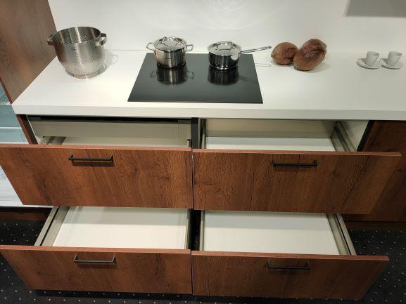 Toronto Cognac + HPL werkblad + hide en slide oven